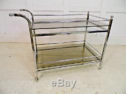 Vintage Retro Midcentury Chrome & Glass drinks trolley Heals Harrods Merrow 70s