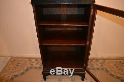 Vintage Shop Display Cabinet Black Painted Locking Key Delivery Available