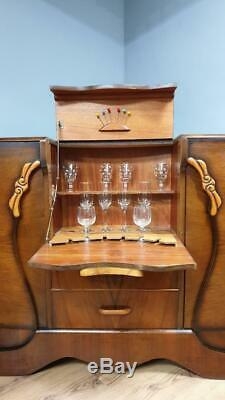 Vintage Stonehill Art Deco Drinks Cabinet Cocktail Cabinet Sideboard