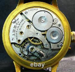 WALTHAM REGULATEUR Antique 1902 USA Large Art Deco RETRO AVTO-style Watch