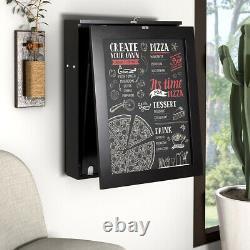Wall-Mounted Drop-Leaf Table Folding Home Desk Shelf Multi-Function Chalkboard