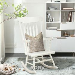 Wooden Rocking Chair Porch Rocker Indoor Outdoor Leisure Chair Lounge Seat