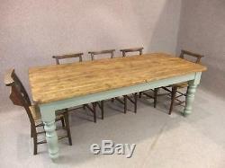 10ft Pin Rustique Ferme Table De Cuisine Avec Une Base Peinte Winchcombe