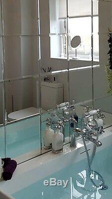 12 Tuiles Miroir Biseautées Carrées Pour Des Effets Visuels Époustouflants De Différentes Tailles