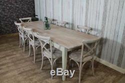 180cm Main Shabby Chic Country Ferme Pine Cuisine Table À Manger Rustique