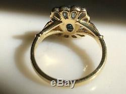 18ct Style Art Déco Aquamarine & Diamond Ring 1ct Aqua + Diamonds