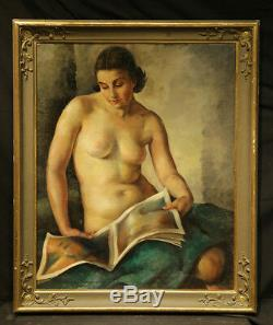 1930 Jeune Belle Nue Lady Style Art Déco Russe