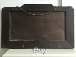 1930 Rare Art Déco Vert Tint Frameless Odéon 5 Panneau Grand Miroir 66x40cm M213