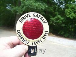 1950 Antique Auto Drive Licence En Toute Sécurité Topper Plaque Vintage Chevy Hot Rat Rod