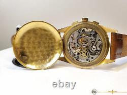 1950 Serviced Vintage Chronographe Suisse 18k Gold Lemania Cal 1270 (320 / 321)