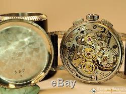1950 Vintage Serviced Lemania Chronograph Cal Ch27 C12 (omega 321) Montre Lune