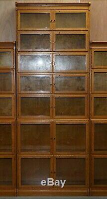 3 Superbes Bibliothèques 1900 Superposées De La Bibliothèque Oxford Mentholée De 1900 Très Rares - Globe Wernicke