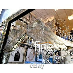 3d Angel Wings Concassée Cristal Picture Frame 95x75cm Livraison Gratuite Disponible
