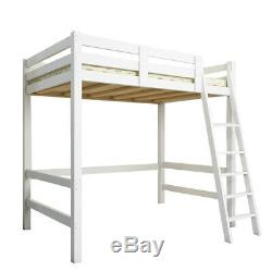 3ft Simple Bois Loft Lit Superposé En Pin Massif Kid Cabin Bed Avec Échelle Sleeper Royaume-uni Haute
