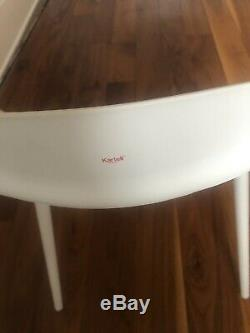 4 X Blanc Kartell Master Collection Chaise À Utiliser Nw1