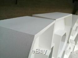 4pi / 122cm Mr & Mrs Chunky Lettres À Vendre Finnished Blanc Mat