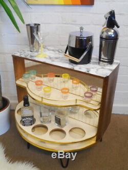 50s 60s Cocktail Bar Boissons Unité Cabinet Retro Vintage Milieu Du Siècle