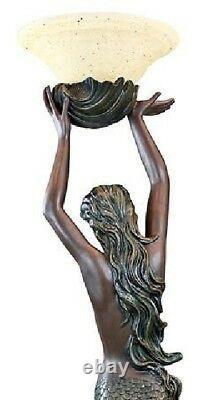 73 Art Déco Déesse Grecque Offrant Sirène 73 Sculptural Floor Lamp