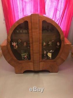 Affichage Antique Cabinet Décoratif Bois Et Meubles En Verre Vintage Style Art Déco