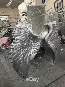 Ailes D'ange 3d En Miroir Avec Détail D'art Paillettes, Miroir Mural Angel 3d