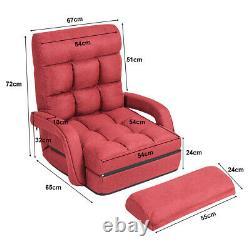 Ajustable Pliable Lazy Sofa Louncer Floor Gaming Chair Couch Angle Avec Oreiller