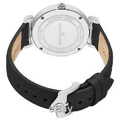 Alexander Swiss Made Montre En Acier Inoxydable Satin Noir Bracelet Cadran Argent