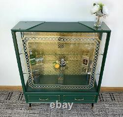 Ameublement Upcycled MID Century 1950s Display Cabinet Cocktail Gin Bar