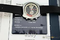 Ancien Servied Vintage Longines 8226 Cal 330 Valjoux 72 Chronographe Avec Certifical