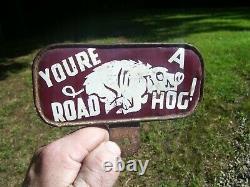Années 1930 Plaque De Licence Automobile Antique Topper Road Hog Vintage Chevy Trog Jalopy