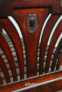 Antique 6ft Art Déco Anglo-indian Colonial Raj Super King Taille Quatre Poster Bed