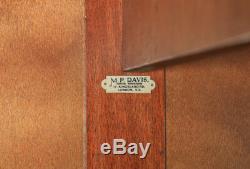 Antique Anglais Art Déco Ronce De Noyer Six 6 Piece Chambre Suite Armoire De Chevet