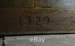 Antique Armoire De Sacristie Église, Avec La Provenance, 1929 Ilot Convient