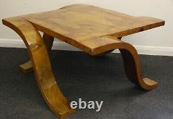 Antique Art Déco Style Meubles Noyer Table Basse Occasionnelle C4
