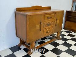 Antique Arts & Artisanat De Style Déco Sculpté Buffet Buffet Sideboard -livraison Disponible