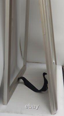 Antique Français Design Full Length Princess Cheval Dressing Mirror Silver Gold