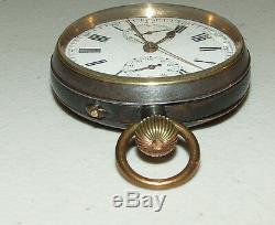 Antique Victorian Suisse Chronographe 17 Jewel Montre De Poche Avec 30 Minutes Inscription