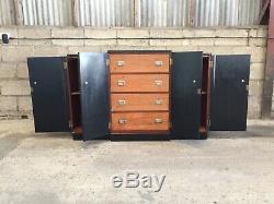 Antique Vintage Art Déco Painted Enfilade Meuble De Rangement Cabinet