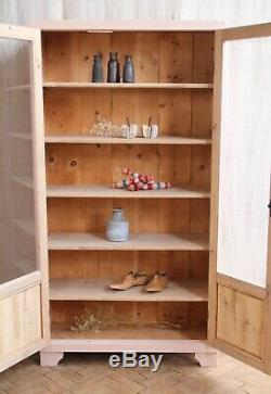 Antique Vintage Rose Verre Peint Déco Meuble De Rangement Cabinet
