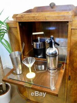 Armoire De Bar À Cocktails Rétro Vintage, Unité De Bar Art Déco