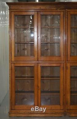 Armoire De Bibliothèque Victorienne En Acajou Et Chêne Bibliothèque Tablettes Réglables