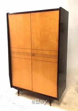 Armoire Double Vintage Mid-century Italienne Marino Maple 1950s Vintage