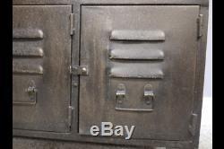 Armoire En Métal De Style Industriel, Buffet Rétro Avec Portes