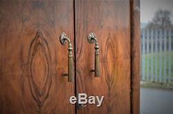 Armoire Pour Homme Vintage Figured Noyer Compactum Par Shrager Art Deco