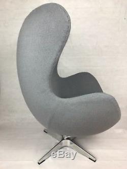 Arne Jacobsen Fauteuil Egg Inspiré Gris Cachemire Brandnew
