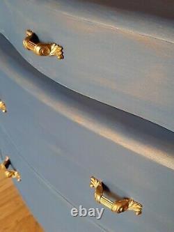 Art Déco 1940/50 Unique Bahut, Placard, Boissons Cabinet. Bleu Napoléonienne