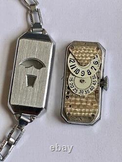Art Déco Bedford Heure Sautante Femmes Watch, Serviced