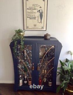 Art Déco Cocktail Gin Drinks Display Cabinet The Sylvie Genuine 1930s Bleu