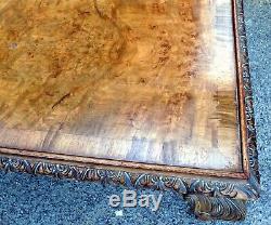 Art Déco, Type Géorgien Antique, Table Basse Occasionnelle En Noyer Oblique