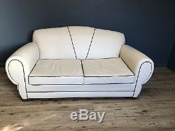 Art Déco Vintage Canapé En Cuir