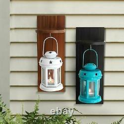 Articles De Décoration De Jardin Lampes De Lanterne Salon Avec Étrier En Bois Ensemble De 2